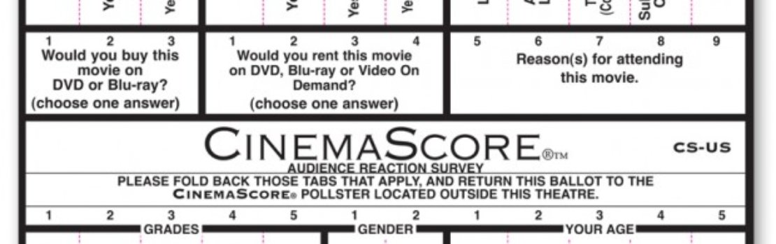 CinemaScore – An 'F' Grade?