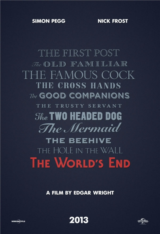 First Poster - The World's End